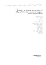 도서 이미지 - Complex ecological interactions of Staphylococcus aureus in tampons during menstruation