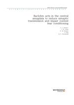 도서 이미지 - Baclofen acts in the central amygdala to reduce synaptic transmission and impair context f