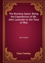 도서 이미지 - The Burning Spear: Being the Experiences of Mr. John Lavender in the Time of War