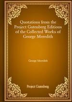 도서 이미지 - Quotations from the Project Gutenberg Editions of the Collected Works of George Meredith