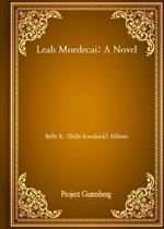 도서 이미지 - Leah Mordecai: A Novel