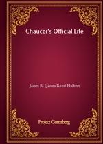 도서 이미지 - Chaucer's Official Life