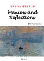 도서 이미지 - Maxims and Reflections