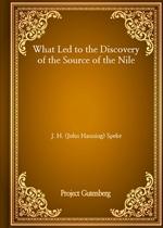 도서 이미지 - What Led to the Discovery of the Source of the Nile