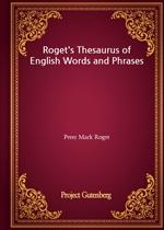 도서 이미지 - Roget's Thesaurus of English Words and Phrases