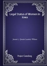 도서 이미지 - Legal Status of Women in Iowa