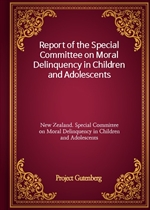 도서 이미지 - Report of the Special Committee on Moral Delinquency in Children and Adolescents