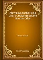 도서 이미지 - Army Boys on the Firing Line; or, Holding Back the German Drive