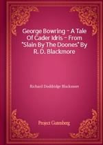 도서 이미지 - George Bowring - A Tale Of Cader Idris - From 'Slain By The Doones' By R. D. Blackmore