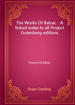도서 이미지 - The Works Of Balzac - A linked index to all Project Gutenberg editions