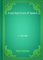 도서 이미지 - Every-Day Errors of Speech
