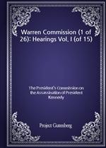 도서 이미지 - Warren Commission (1 of 26): Hearings Vol. I (of 15)