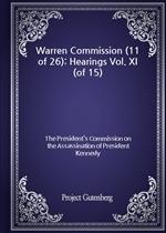 도서 이미지 - Warren Commission (11 of 26): Hearings Vol. XI (of 15)