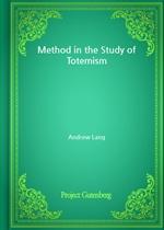 도서 이미지 - Method in the Study of Totemism