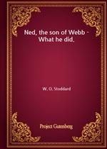 도서 이미지 - Ned, the son of Webb - What he did.