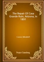 도서 이미지 - The Repair Of Casa Grande Ruin, Arizona, in 1891