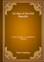 도서 이미지 - Six days of the Irish Republic