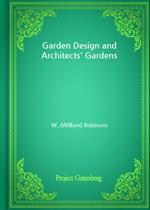 도서 이미지 - Garden Design and Architects' Gardens