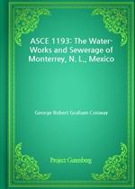 도서 이미지 - ASCE 1193: The Water-Works and Sewerage of Monterrey, N. L., Mexico