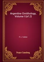도서 이미지 - Argentine Ornithology, Volume I (of 2)