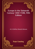 도서 이미지 - Europe in the Sixteenth Century 1494-1598, Fifth Edition