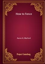 도서 이미지 - How to Fence