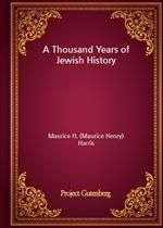 도서 이미지 - A Thousand Years of Jewish History