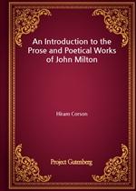 도서 이미지 - An Introduction to the Prose and Poetical Works of John Milton