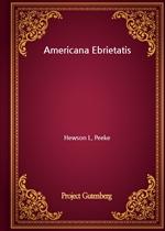 도서 이미지 - Americana Ebrietatis