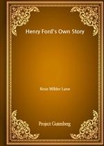 도서 이미지 - Henry Ford's Own Story