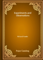 도서 이미지 - Experiments and Observations