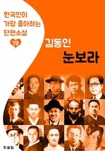 도서 이미지 - 눈보라 : 김동인 19 (한국인이 가장 좋아하는 단편소설)