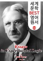 도서 이미지 - 실험 논리학 논고 (Essays in Experimental Logic) '존 듀이' 민주주의 교육사상 : 세계 문학 BEST 영어 원서 536