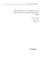 도서 이미지 - Demonstration of a terahertz pure vector beam by tailoring geometric phase