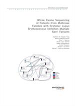도서 이미지 - Whole Exome Sequencing of Patients from Multicase Families with Systemic Lupus Erythematos
