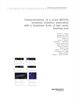 도서 이미지 - Characterization of a novel MYO3A missense mutation associated with a dominant form of lat