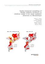 도서 이미지 - Spatio-temporal modelling of weekly malaria incidence in children under 5 for early epidem