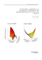 도서 이미지 - Evolutionary significance of antiparasite, antipredator and learning phenotypes of avian n