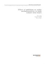 도서 이미지 - Effects of gadolinium on cardiac mechanosensitivity in whole isolated swine hearts