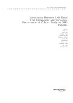 도서 이미지 - Association Between Left Renal Vein Entrapment and Varicocele Recurrence A Cohort Study in