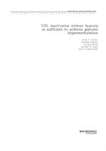 도서 이미지 - VHL inactivation without hypoxia is sufficient to achieve genome hypermethylation