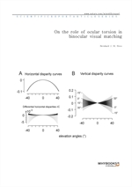 도서 이미지 - On the role of ocular torsion in binocular visual matching