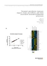 도서 이미지 - Neonatal anesthesia exposure impacts brain microRNAs and their associated neurodevelopment