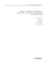 도서 이미지 - Genetic markers associated to arbuscular mycorrhizal colonization in durum wheat