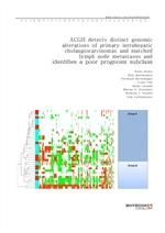도서 이미지 - ACGH detects distinct genomic alterations of primary intrahepatic cholangiocarcinomas and