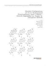 도서 이미지 - Absolute Configurations of 14,15-Hydroxylated Prenylxanthones from a Marine-Derived Asperg