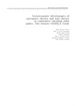 도서 이미지 - Socioeconomic determinants of sarcopenic obesity and frail obesity in community-dwelling o