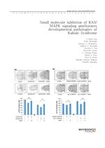 도서 이미지 - Small molecule inhibition of RASMAPK signaling ameliorates developmental pathologies of Ka