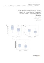 도서 이미지 - Mild Maternal Obstructive Sleep Apnea in Non-obese Pregnant Women and Accelerated Fetal Gr