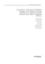 도서 이미지 - Association of Decreased Handgrip Strength with Reduced Cortical Thickness in Japanese Fem